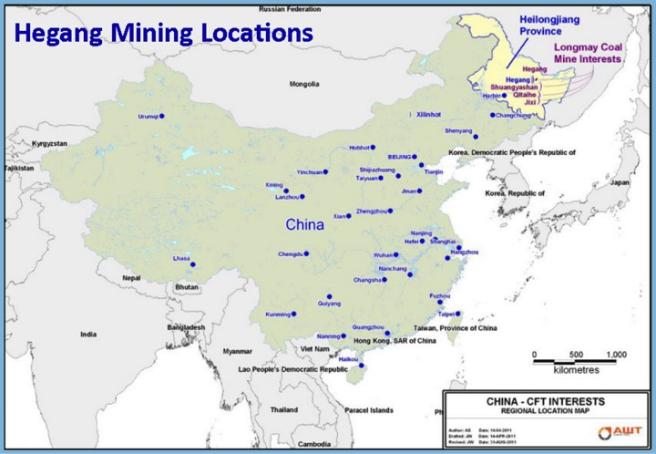 hegang mining locations